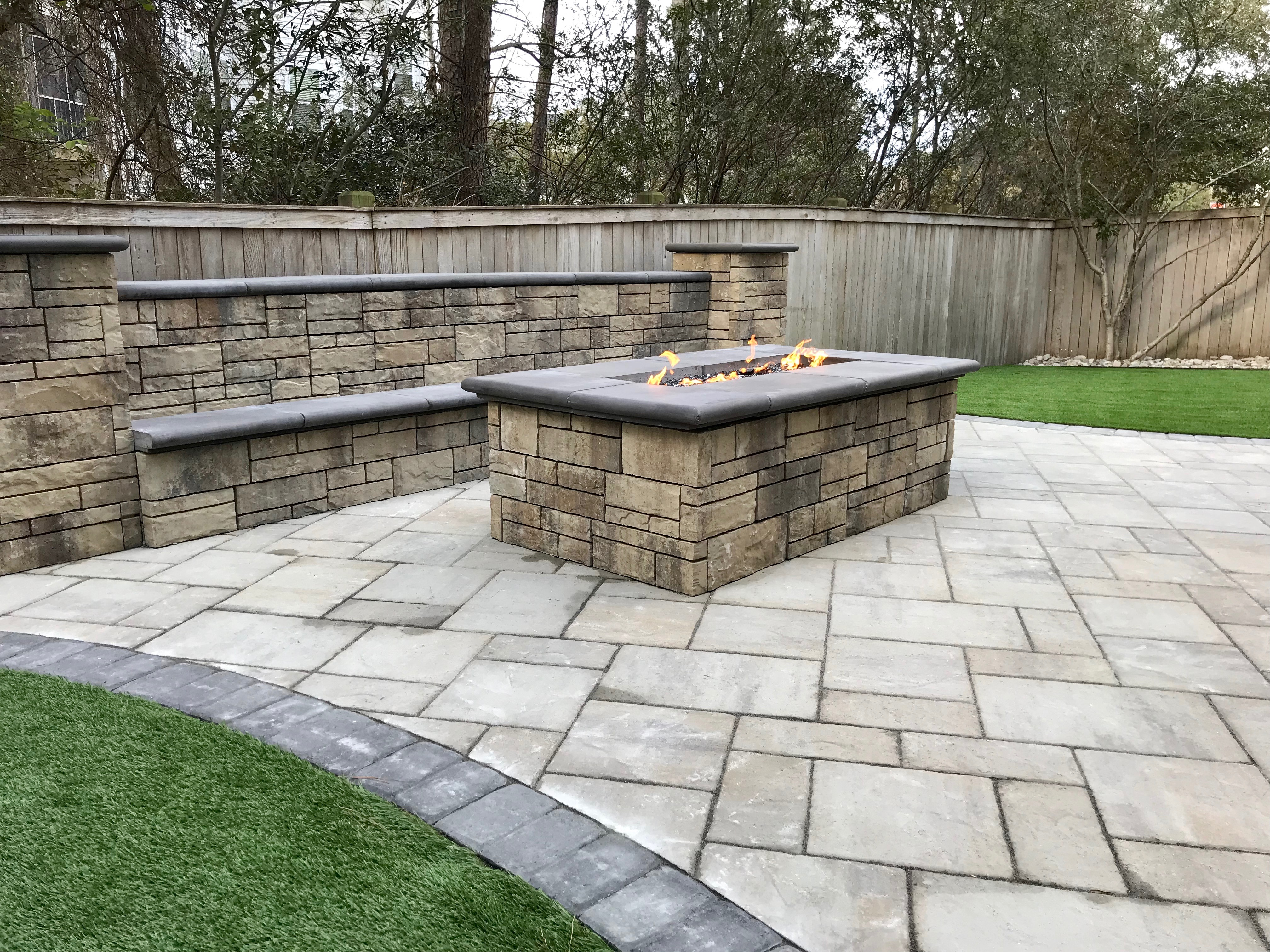 Backyard Hardscape and Synthetic Turf After 3 - Seabreeze ...